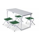 Набор раскладной стол и 4 табуретки Pinguin Furniture Set Table L with 4 Jack Stools Green